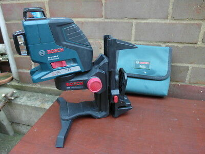 Bosch GLL 2-80P - 360º Self-Levelling Line Laser + Wall Mount + Ceiling Clamp
