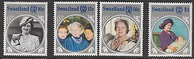 Swaziland 1986 Life & Times Queen Elizabeth Queen Mother Set MUH   #
