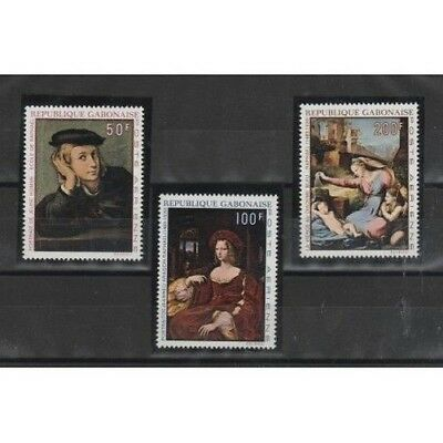 Gabon Rep Gabonaise 1972 Square By Canaletto 3 Val Mnh Mf56586