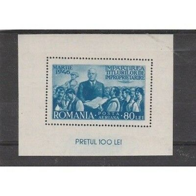 1946 Romania Riforma Agriculture 1 Bf Unif N 31 Mnh Mf17944
