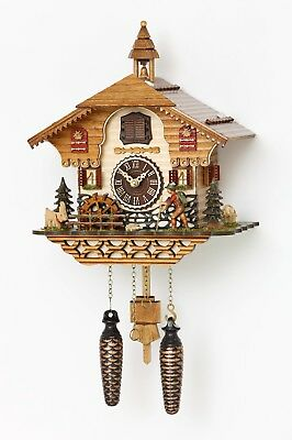 Black Forest house with moving wood chopper,mill wheel,music