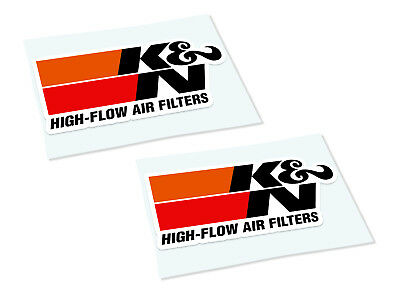 K & N AIR FILTERS Classic Retro Car Motorcycle Decals Stickers