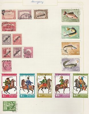 HUNGARY Fish, horses, etc on Old Book Pages-As Per Scan-Removed to send #