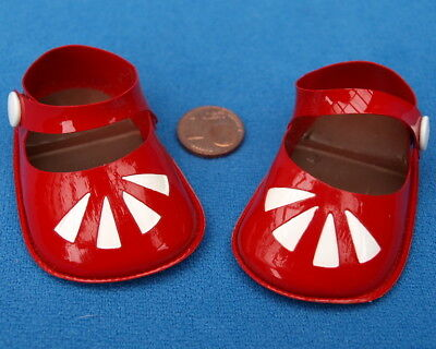 Stolle Puppenschuhe 5/45 Schuhe Puppe Rot Red Doll Shoes