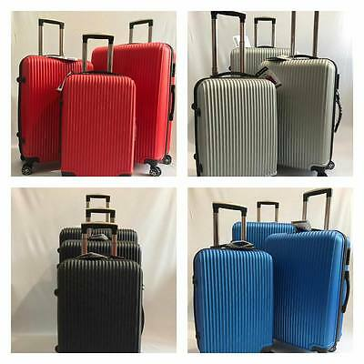 Hard Shell Suitcase ABS Set of 3pcs 4 Wheel Spinner Luggage Ultra Light wight
