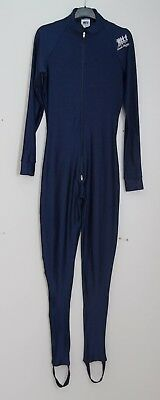 Mens Size S Small Frank Shorter Sportswear Running Suit All In One Navy Vgc