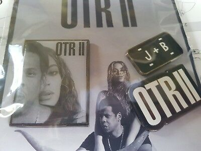 Jay-z and Beyonce On The ll Run pin badges London tour