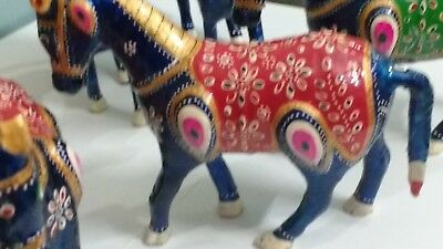Resin hand painted 7 pc horses with pony gift decoration made of