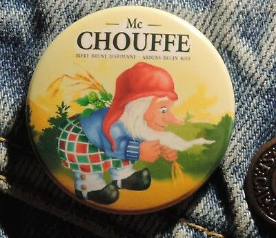 Pin Button Badge Ø38mm  Mc chouffe Brune ( 11 )
