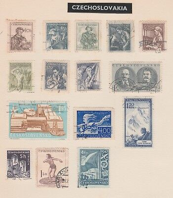 CZECHOSLAVAKIA Collection, Industry, Employment, Tatry, etc as per scan USED #