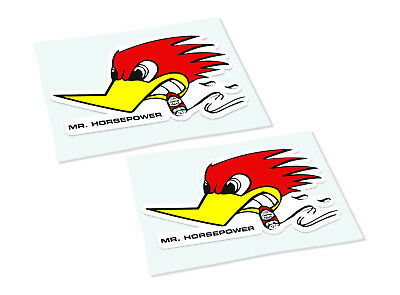MR HORSEPOWER Classic Retro Car Motorcycle Decals Stickers