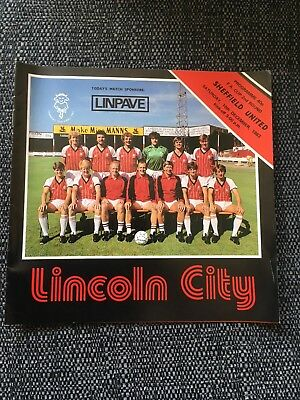 Lincoln City v Sheffield United Fa Cup 2nd Round
