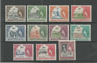 Basutoland 1961-63 Definitive Set Sg,69-79 M/mint Lot 7183A