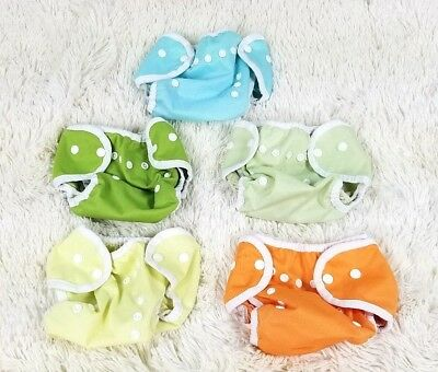 Lot 5 Thirsties duo wrap Diaper Cover One Size 0-9 M 6-18 Lbs Newborn reusable