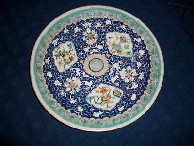 Antique Chinese Famille Verte Large Charger  19Th Century - 13 Inches