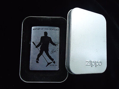 A Nice 2001 Artist Of Century Elvis Zippo Lighter Unused Sealed In Box