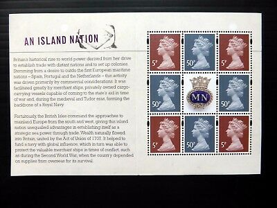 GB 2013 Merchant Navy Machin Se-tenant Prestige Booklet Pane SEE BELOW NB4077
