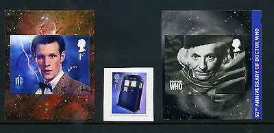 Gb 2013 Dr Who Self-Adhesive Set Of 3 Sg 3448/50 Unmounted Mint