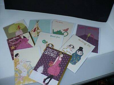 Job Lot  of Quality Modern Greetings Cards 50 mixed designs, blank,