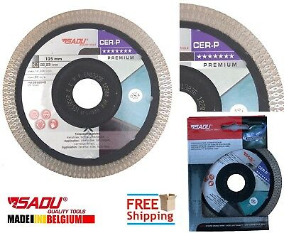 Porcelain Tile Cutting Diamond Disc Blade Thin Turbo 125mm 4.9in ANGLE GRINDER
