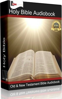 The Holy Bible Audio Book MP3 DVD | Old & New Testament Over 70 Hours | English