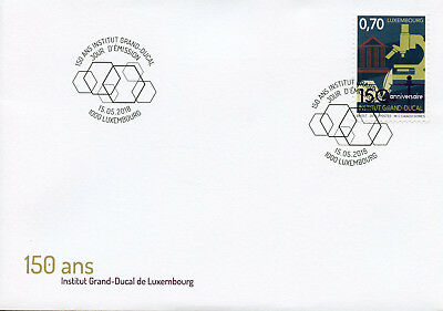 Luxembourg 2018 FDC Institut Grand-Ducal 1v Cover Science Architecture Stamps