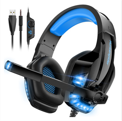 ONIKUMA K1 Mic Stereo Bass Surround Gaming Headset for Laptop PS4 Xbox One Grey