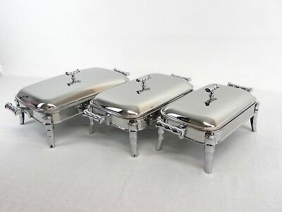 New Oblong Stainless Steel Chafing Dish For Family Dinner Parties Bar B Q