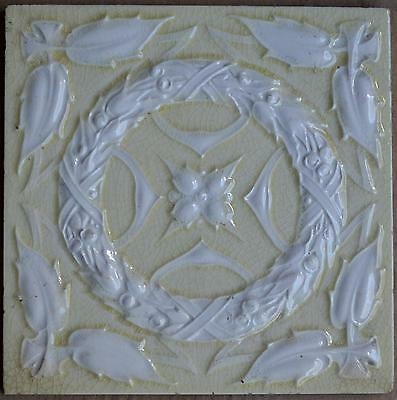 Antique -Art Nouveau- European - Majolica Tile C1900