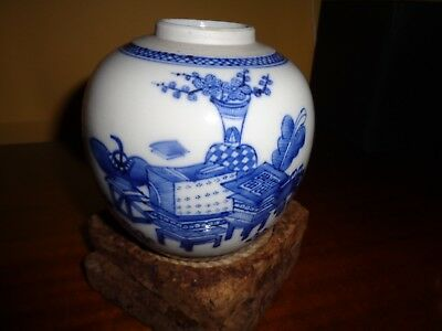 Antique Chinese Blue And White Vase, Circa 19Th Century,