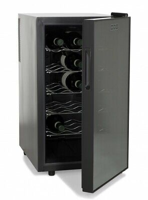 "Amstyle Wine Beer 18 Bottle Refrigerator 48L Mini Bar Cooler Fridge New, Eec ""b"""