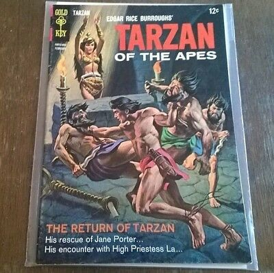 Tarzan Of The Apes #156 VF/VF+ Gold Key Comics Silver Age 1966