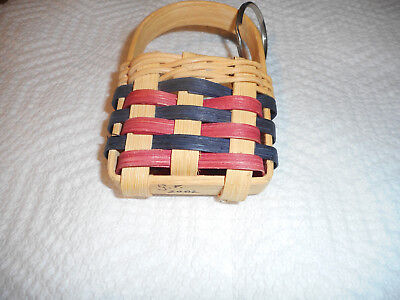 Longaberger Basket Keychain Ring 2002