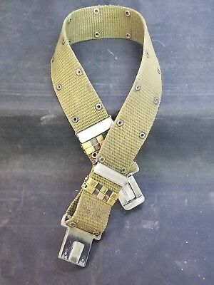 Surplus US Army Pistol Belt with Plastic Davis Clip