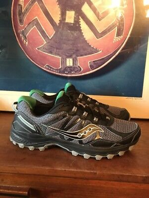 c315803fe611 Mint Saucony Excursion Tr11 S20392-1 Black Grey Green Mens Running Shoes  Size 11