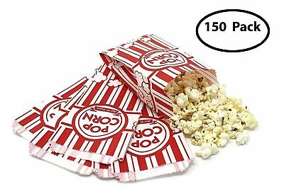 NEW 150 Classic Popcorn Bags 1-oz Disposable Toxic-Free Food-Grade & Oil-Proof