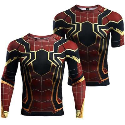 Spider-Man Homecoming Iron Spiderman Compression T-Shirt Fitness Sport Suit