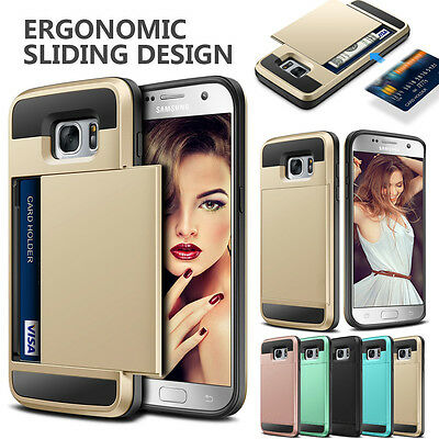For Samsung Galaxy S7 /S7 Edge Case Wallet Slide Card Slot Holder Phone Cover