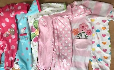 newborn baby GIRL pajamas-lot of 7-clothing-sleepwear