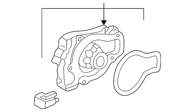 Genuine Honda Water Pump Assembly 19200-P0A-003