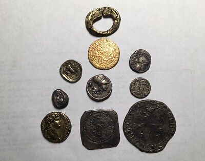 LOT of 10  HIGH Quality Old Museum Fantasy ANCIENT COINS Greek Pirate Roman