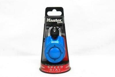 Master Lock 1500iD Speed Dial Blue Padlock Combo Locker Gym