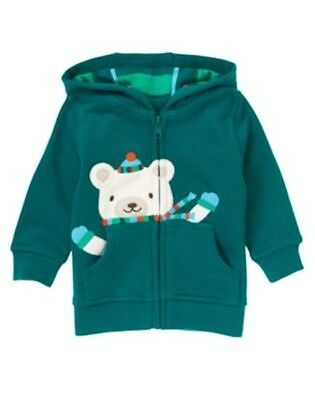 NWT Gymboree baby Boy Jacket SZ 6 9 12 M Bear Fleece Hooded snow Bear