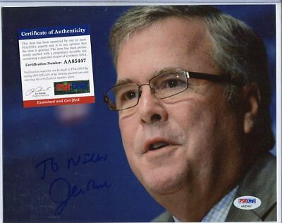 JEB BUSH autograph HAND SIGNED with PSA DNA  COA 154