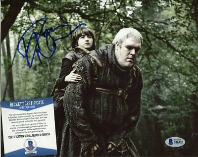 game of thrones KRISTIAN NAIRN autograph HAND SIGNED with BAS COA beckett 129