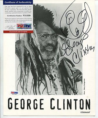 GEORGE CLINTON autograph HAND SIGNED & DRAWING  with PSA DNA COA  SB3122