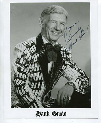 HANK SNOW autograph HAND SIGNED 8 X 10 with COA 5890