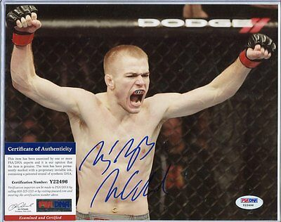 MMA fighter MICHAEL MCDONALD autograph HAND SIGNED with PSA DNA COA SB1629