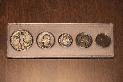 !!! Us 1942 90% Silver Wwii Birth Year Coin Set !