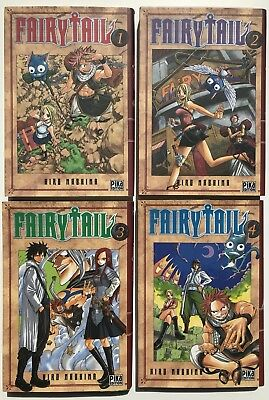 Lot mangas Fairy Tail - Tomes 1 à 4 - FR